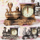 Vintage Train Engine Quartz Alarm Clock Analogue Retro Children Creative Gifts
