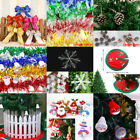 Christmas Ribbon Baubles Snowflake Xmas Tree Hanging Ornament Party Home Decor
