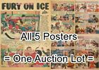 "MONTREAL CANADIENS 1949 Toronto Maple Leafs NHL = 5 POSTERS 2 Sizes 18"" or 19"" $59.37 USD on eBay"