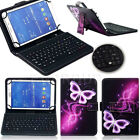 """US Pattern Leather Case Cover Micro USB Keyboard For 7"""" 8"""" 9.6"""" 10.1"""" Tablet PC"""