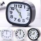 Square/Round Small Home Bed Snooze Travel Quartz Analogue Portable Alarm Clock