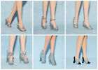 Assorted Lot of Silver Gray Heels Shoes Pumps Genuine BARBIE - You Choose