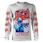 LEPROSY BLUE & RED (WHITE)  by DEATH  Long  sleeve shirt various sizes official