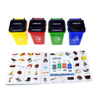 Plastic Trash Bin Novelty Toys Mini Garbage Load Can Container Kids Learning Toy