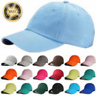 Plain Solid Ball Cap Washed Cotton Polo Style Baseball Caps Hat Adjustable Hats
