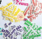 4x Personalised Name Sticker Vinyl Decal Water Bottle Bike Glass Back To School