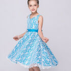 Girls Sleeveless Princess Tulle Tutu Dress Party Pageant Bridesmaid Formal Gown