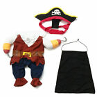 Pet Dog Cat Costume Clothes Pumpkin Pirate Party Costumes Halloween Jacket Dress