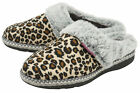 Dunlop Ladies Womens Slippers Slip On Mules Faux Fur Lined Washable Sizes 3-8