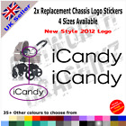2x New 2012 iCandy Replacement Logo Stickers Pushchair Pram Stroller 35+ Colours