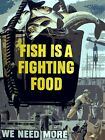 9105.Decoration Poster.Home wall.Room art design.Fish is fighting food.Patriotic