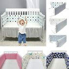 Breathable Baby Crib Bumper Mesh Liner for Cradle newborn Pad Cotton Thicken