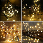 Led Globe Star Lights Battery Powered Fairy String Bedroom Party Home Lamp Decor