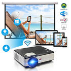 Smart Android WIFI Home Theater Projector HDMI USB Multimedia Miracast App Movie