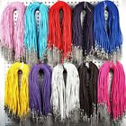 20Pcs Wholesale Lots Braided Leather Handmade Weave Necklace DIY Long Chain