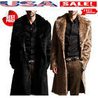 Men Winter Warm Faux Fur Coat Fashion Jacket Parka Male Overcoat Clothes New