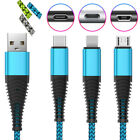 Braided 1M~3M Fast Charging Data Sync Cable For Type C Micro USB...