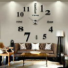 Frameless DIY Wall Clock 3D Mirror Wall Clock Large Wall Stickers for AMAZING !