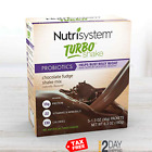 Nutrisystem 10 TURBO Shakes CHOCOLATE Mix Bust Belly Bloat Digestive Health Diet