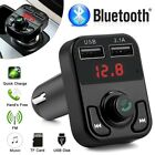 Wireless Bluetooth FM Transmitter Handsfree Radio Adapter MP3 Player USB Charger
