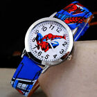 Spider PU Leather man Wrist Watch Lady Girl Boy Women Teens Kids Cartoon Watches