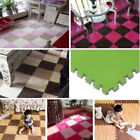 Soft Plush Puzzle Floor Mat Pad Baby Crawling Cutting Area Rug Play Carpet Rug