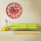 Vintage Rustic DIY Wooden Wall Clock Antique Shabby Retro Home Kitchen Decor US