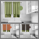 MICROFIBER WINDOW VALANCE ROD POCKET NURSERY KIDS ROOM BEDROOM DECOR HANG R16