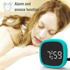 Digital Alarm Clock LED Display Pocket Silicone Voice-activated Snooze Clock_ZX