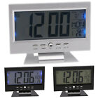 LED Digital Alarm Clock Voice Control Backlight Snooze Thermometer Home Decor