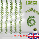 12pc Artificial Ivy Garland Trailing Leaf Vine Foliage Flower Hanging Home Decor
