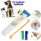 uk Pet Dog Cat Cleaning Toothpaste+Toothbrush+Back Up Brush Set Beaf Flavour