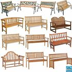 Garden Bench 2 Or 3 Seater Chair Patio Park Outdoor Furniture Weather Treated