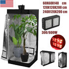 Indoor Hydroponics Growing Tent With 300/600W LED Full Spectrum Plant Grow Light