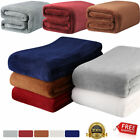Winter Warm Soft Faux Fur Fleece Plush Throw Blanket Rug polyester Cozy Bed Sofa image