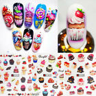 Nail Water Decals Dessert Cake Slider Transfer Stickers Mixed Nail Art Decors