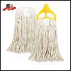 U-Clean Commercial LARGE Mop Cotton Janitorial Cleaning Mop Heads or Mop Handles