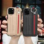 Shockproof Canvas Strap Wallet Stand Case Cover For Apple iPhone 11 Pro Max 2019