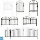 Lockable Garden Gate Fence Panel With Arched Top Single Double Triple Door Metal