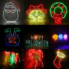 Neon Led Light Heart Sign Night Lamp Standing Decor Wall Home Xmas Halloween TH