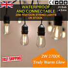 20M Plug S14/S14 LED Party Globe Festoon String Lights|Outdoor Garden Decoration