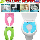 Kids Trainer Seat Padded Toilet Toddler Potty Pee Training Children Baby Gift  image
