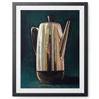 Coffee Percolator Kitchen Oil Painting Paper - or - Canvas Print Poster Wall Art
