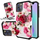 For iPhone 11 / 11 Pro / 11 Pro Max Case Hybrid Heavy Duty Shockproof Red Floral