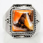 Spiny Oyster Turquoise - Arizona 925 Sterling Silver Ring Jewelry s.8 SDR41275