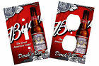 PERSONALIZED BUDWEISER BEER BAR LIGHT SWITCH PLATE OUTLET COVER HOME DECOR