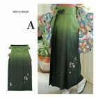 Japanese Women's Kimono Embroidery Gradation HAKAMA Skirt Wild Grass A Japan EMS