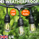 65.6FT Outdoor Globe String Fairy Festoon Lights S14/S14 LED Garden Wedding Xmas