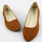 WOMEN SUEDE FLAT LOAFERS BALLERINA BALLET LADIES DOLLY PUMPS SHOES UK SIZE 2-10