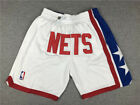 New Men's Brooklyn Nets big LOGO just don Basketball pants shorts Retro white on eBay